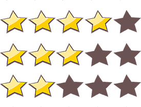 Positive Google Bewertungen - 5 Sterne – der EYECATCHER schlechthin!