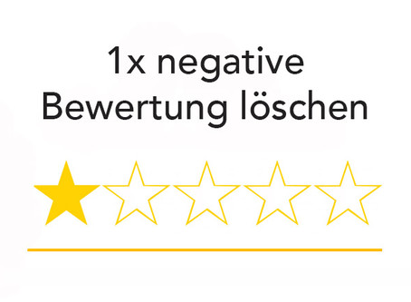 Negative Bewertung auf Google löschen - jetzt!