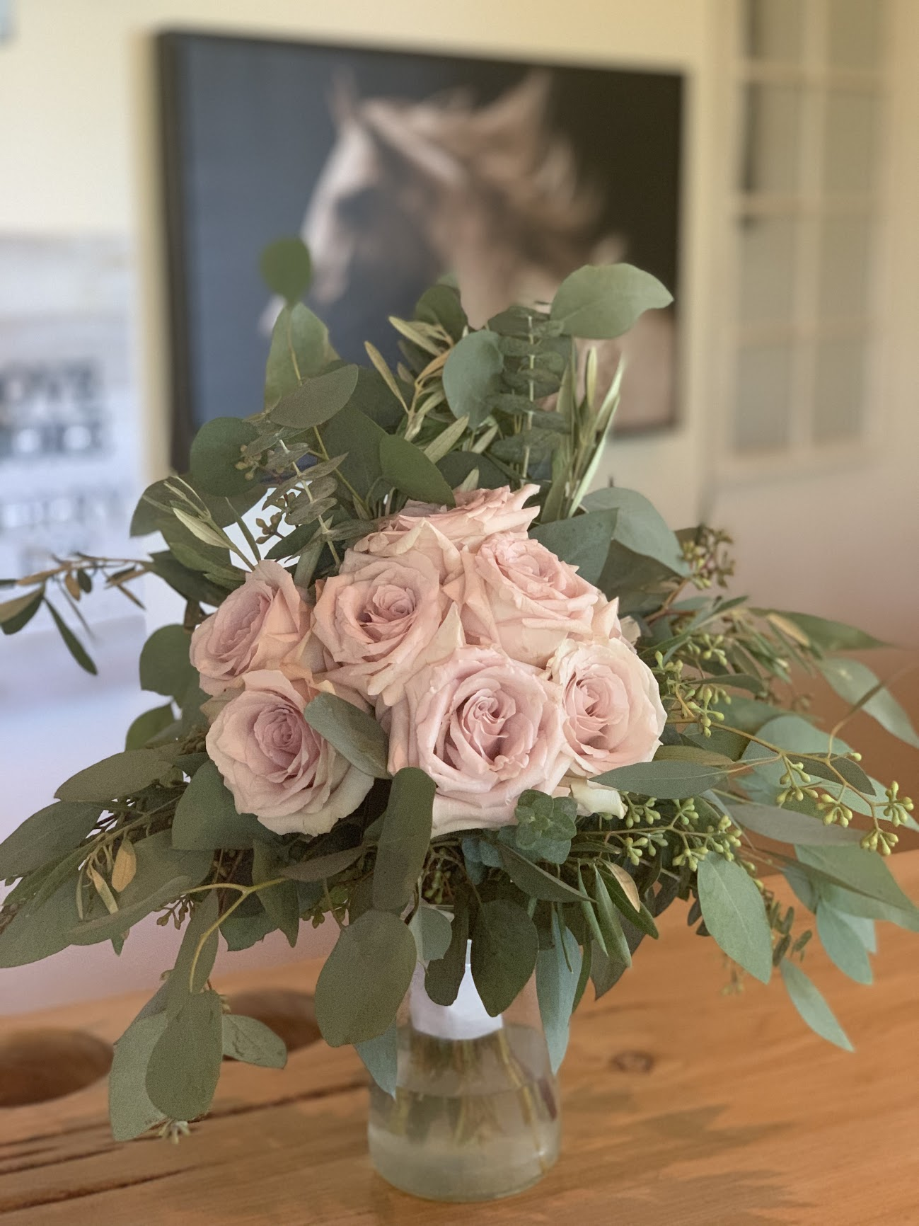 Mostly Green Bridal Bouquet
