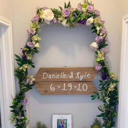 Wedding Anniversary Floral Arch