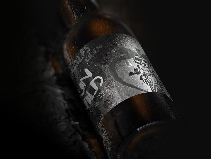 Schralfs Cider Run Wild Bottle Mockup