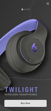 Purple Beats by Dre Mobile landing page