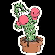 1930s style cactus Cartoon Illustration