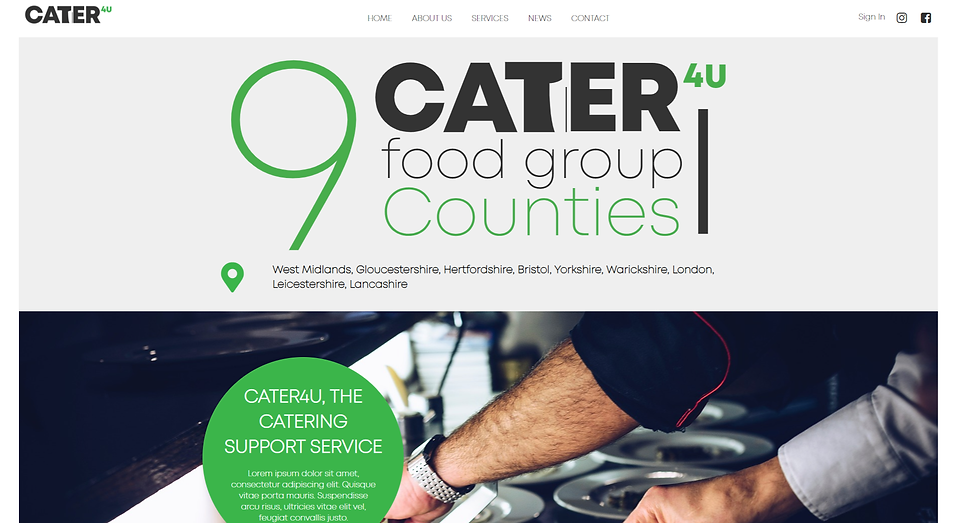 Cater4u 9 Food group Counties About Page