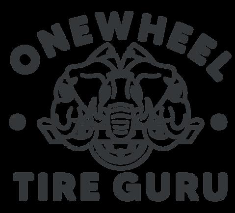 one wheel tire guru brand design logo in dark grey