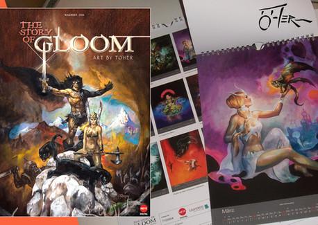"""Fantasy-Kalender """"The Story Of Gloom"""" von Heye Digital"""