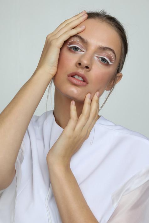 Hair and Makeup - Hazel Joanna Photographer - Kiva Juang Stylist - Kirsty Smalls Model - Elite Models