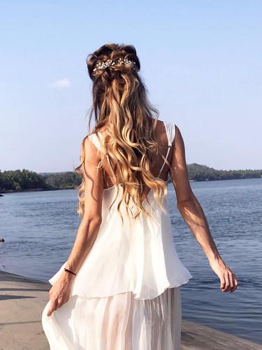 Gloria Beach wedding hair