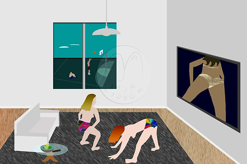 Physical Fitness (digital painting in print)