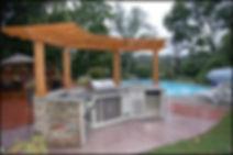 Backyard Masers Outdoor Stone Kitchen