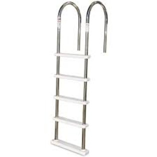 Deluxe Stainless Steel Above Ground Pool Deck Ladder