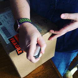 Ouverture de la première boîte