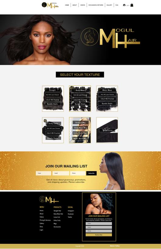 Wix Website Wig Business Site