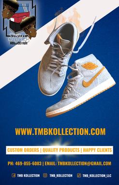 White Nike Yellow Check Blue Back Ground