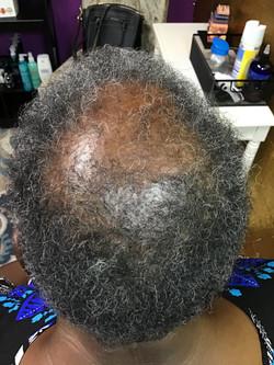 woman hair growing