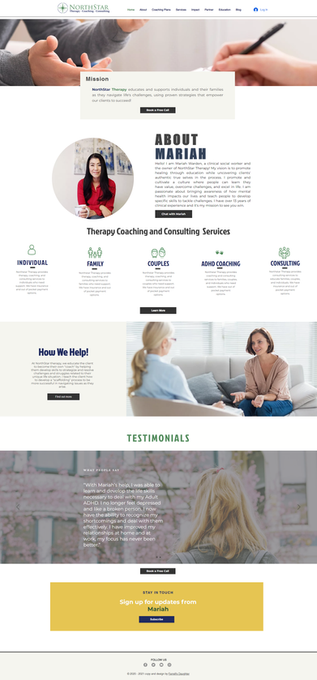 Wix Website Therapy Coach and Consulting Site