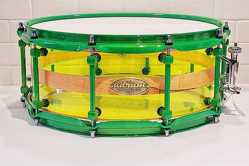 "14"" x 5.75"" Ambrosia Maple / Acrylic Hybrid Snare"