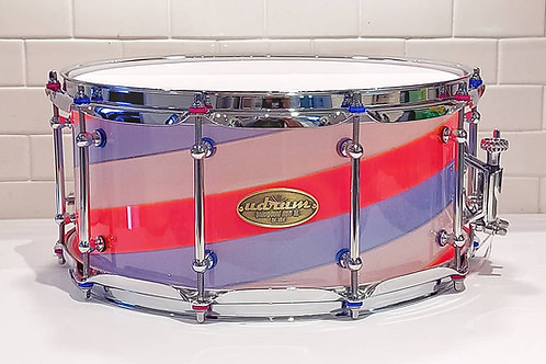 """14"""" x 6.5"""" Twisted Acrylic Snare"""