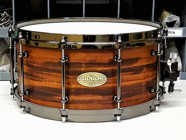 "udrum 6.5""x14"" Tiger Wood over Maple Snare Drum"