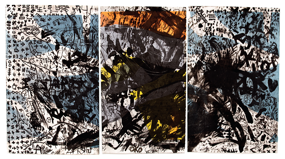 The Skin I have been living in, triptych, Budkalito e/a print, 80cm x 110cm by Ewa Budka