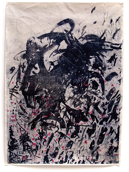 The Skin I have been living in, Budkalito e/a print, japanese paper 36in x 49in by Ewa Budka