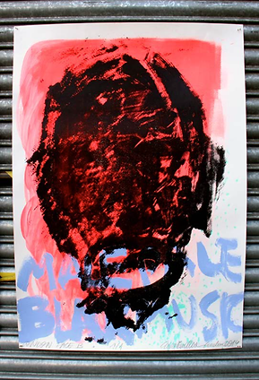 London Faces, e/a Screen Print Monotype, Mixed media on paper, 100cm x 70cm made by Ewa Budka