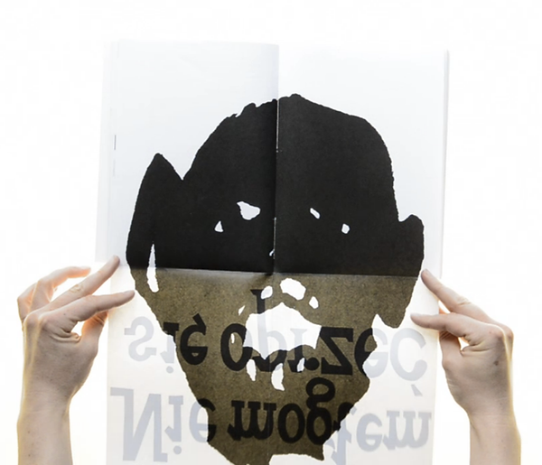 Charles Bukowski opening poster spread, Ewa Budka