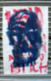 London Faces, e/a Screen Print Monotype, Mixed media on japanese paper, 90cm x 65cm made by Ewa Budka