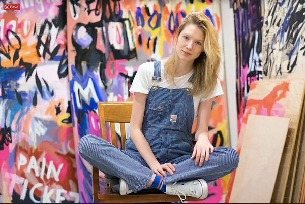Ewa Budka in her studio photo by Thomas Levinson