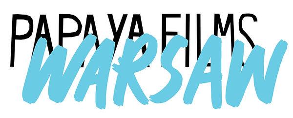 Papaya_Warsaw, sticker, 19cm x 7cm, made by Ewa Budka