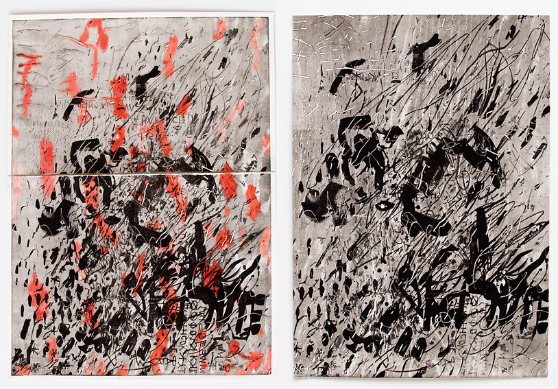 The Skin I have been living in, Budkalito e/a prints, both 100cm x 70cm by Ewa Budka