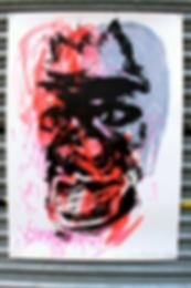 London Faces, e/a Screen Print Monotype, Mixed media on paper, 100cm x 70cm made by Ewa Budka