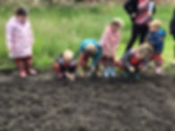 Nursery children in parish allotment 1.j