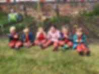 Nursery children in parish allotment 2.j