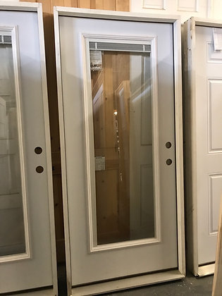 Metal Full Lite w/ Internal Mini Blinds Clear Insulated Glass