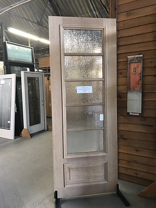 Mahogany 5 Lite Rain Glass 1 Raised Panel