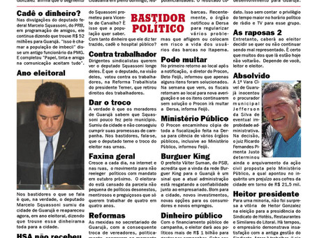 BASTIDOR POLÍTICO GUARUJÁ E LITORAL