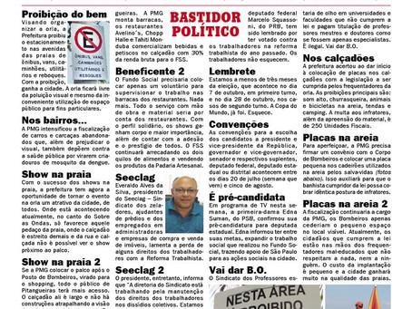 BASTIDOR POLÍTICO NO JORNAL DA CIDADE LITORAL