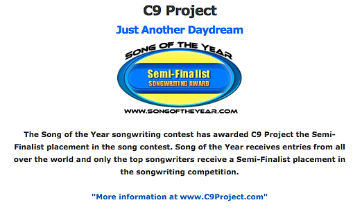 Song Of The Year Semi-Finalist