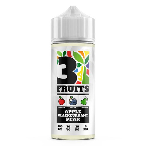 3Fruits-Apple Blackcurrant Pear 100mil