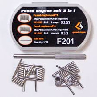 Geek Vape F201 Fused Clapton Coil 2 in 1 28 AWG x 2 + 32 AWG FeCrAl Alloy & Ni80