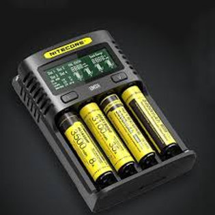 Nitecore UMS4 4-slot Quick Charger with LCD Scree