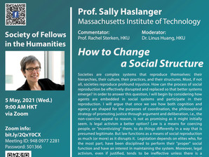 May 5: Sally Haslanger - How to Change a Social Structure (Recording & other materials uploaded)