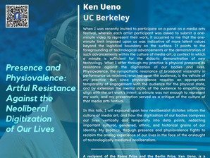 October 18: Ken Ueno - Presence and Physiovalence