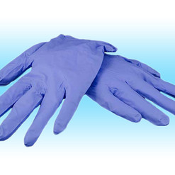 x1 pair of Nitrile Gloves latex and powd