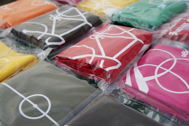 Textil plegado en bolsas