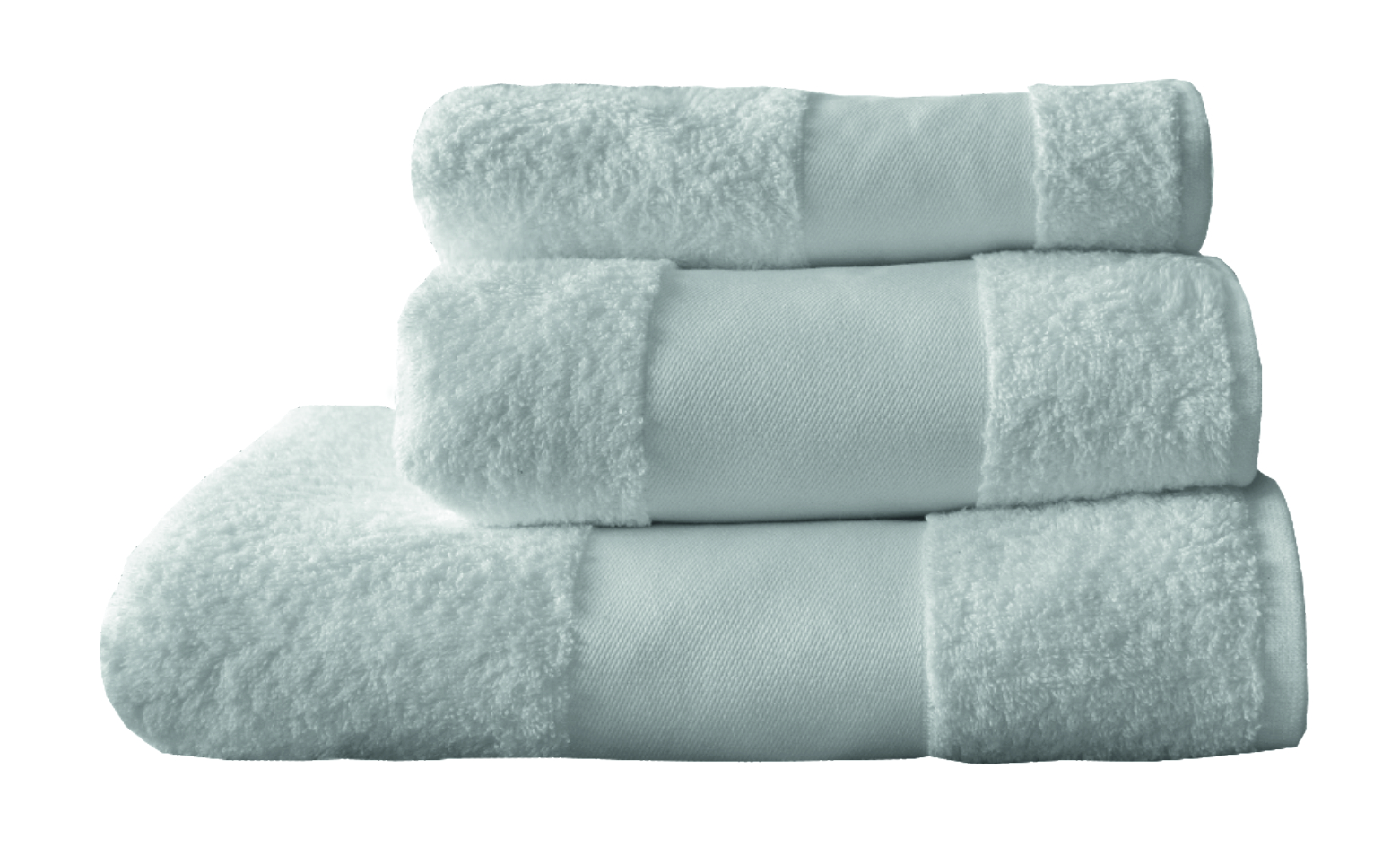 Printed border towel collection