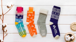 Thermal knitted socks with free sock tag