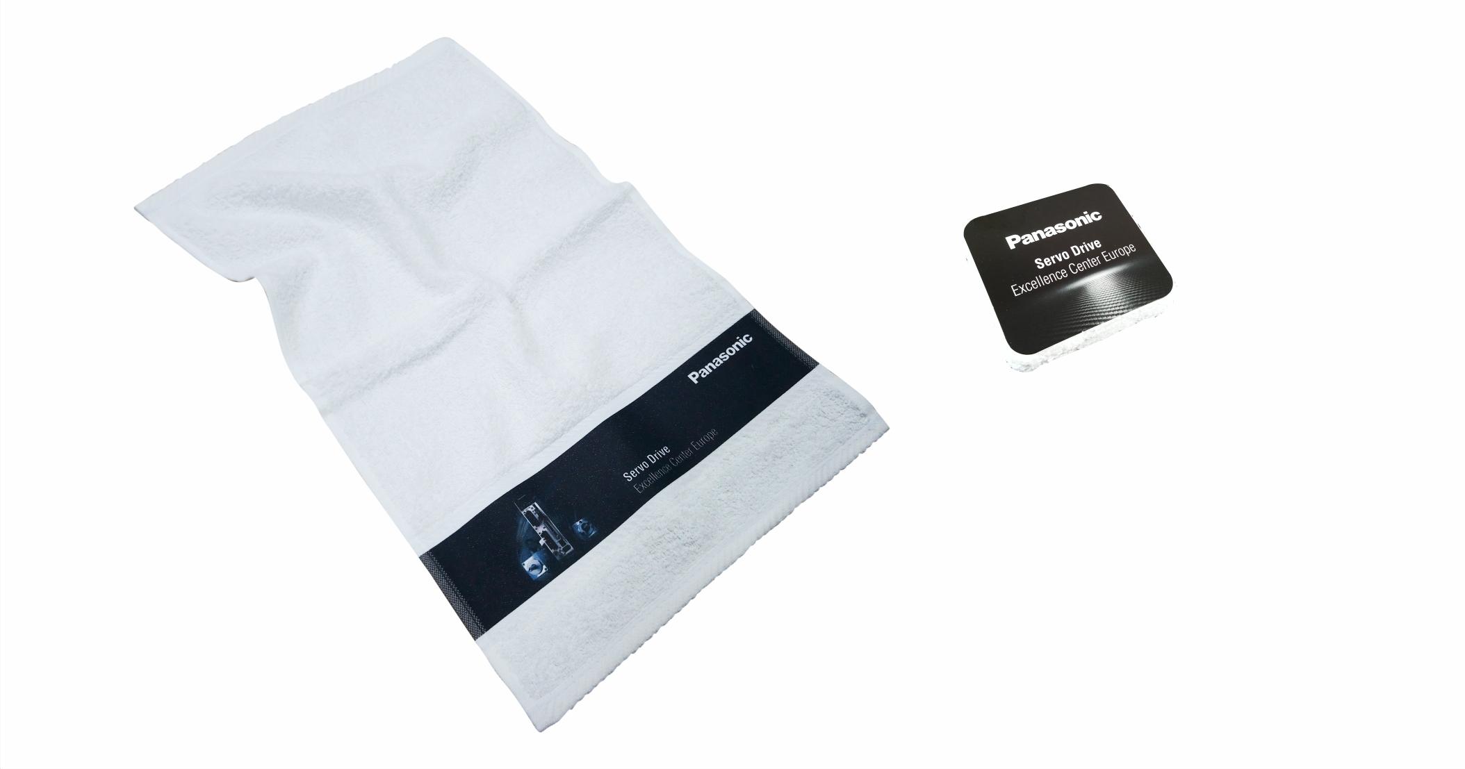 Printed border towel 30 x 50 cm compress