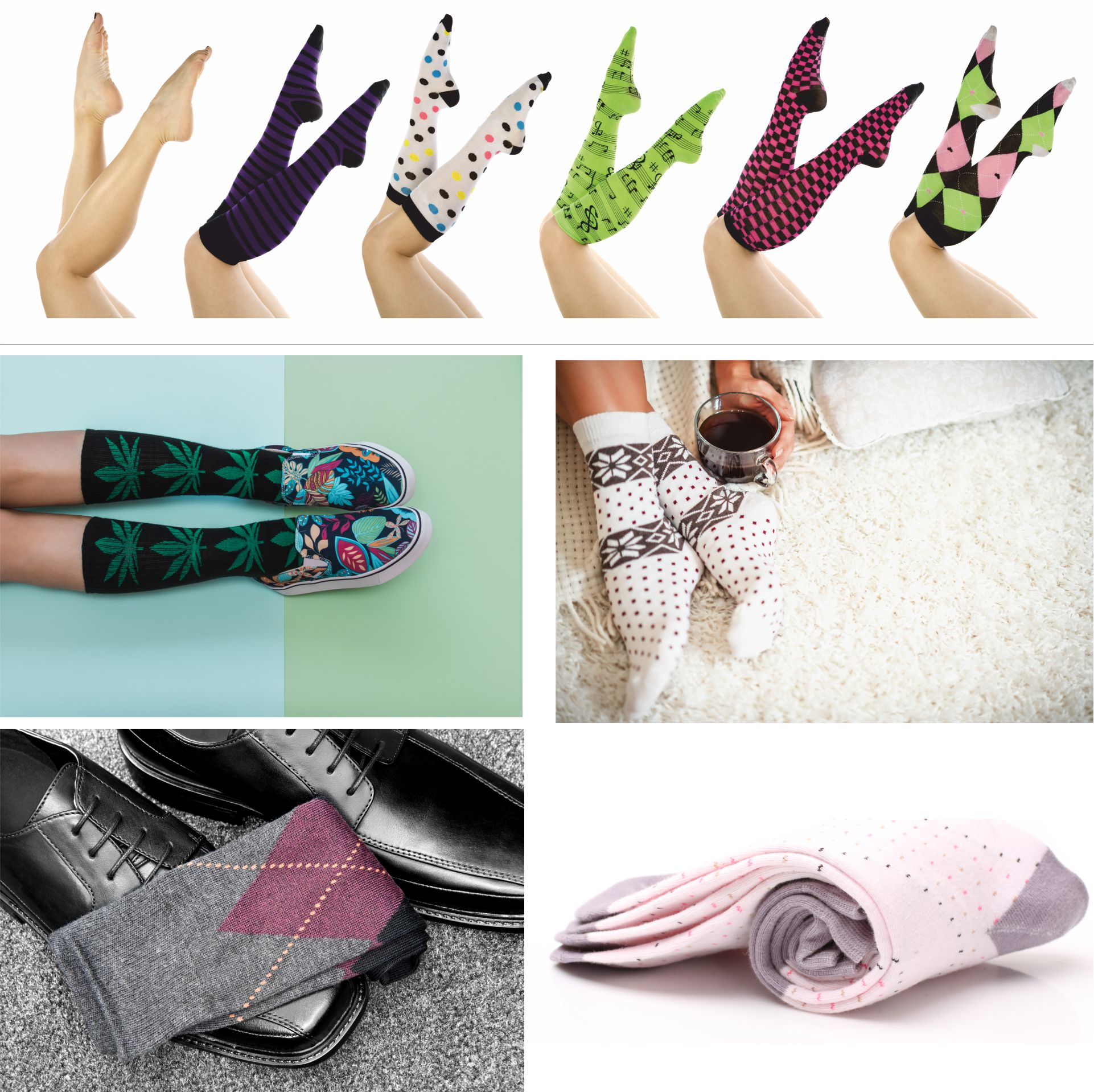 Knitted socks personalized with your logo